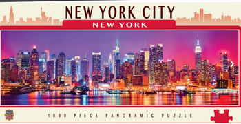 Masterpieces Puzzle City Panoramic New York Times Square Puzzle 1000 pieces