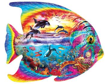 Masterpieces Puzzle Contours Shaped Tropical Fish Shape Puzzle 1000 pieces