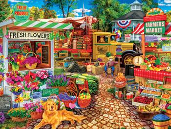 Masterpieces Puzzle Farmers Market Sale on the Square Puzzle 750 pieces