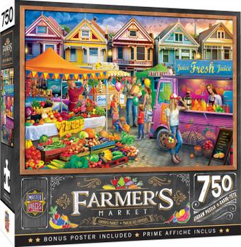 Masterpieces Puzzle Farmers Market Weekend Market Puzzle 750 pieces