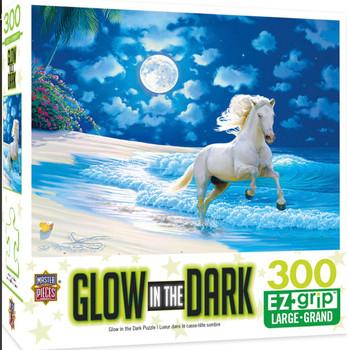 Masterpieces Puzzle Glow in the Dark Moonlit Dance Ez Grip Puzzle 300 pieces