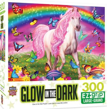 Masterpieces Puzzle Glow in the Dark Rainbow World Ez Grip Puzzle 300 pieces