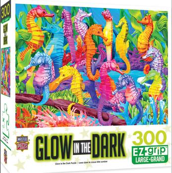 Masterpieces Puzzle Glow in the Dark Singing Seahorses Ez Grip Puzzle 300 pieces