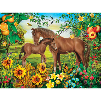 Masterpieces Puzzle Green Acres Neighs & Nuzzles Ez Grip Puzzle 300 pieces