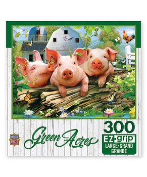 Masterpieces Puzzle Green Acres Three Lil' Pigs Ez Grip Puzzle 300 pieces