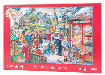 1000 Piece Jigsaw Puzzle - 2015 Christmas Collectors Edition No.10 - Window Shopping