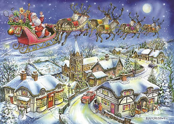 House of Puzzles - 500 Piece Jigsaw Puzzle - 2018 Christmas Collectors Edition No.13 - Christmas Eve