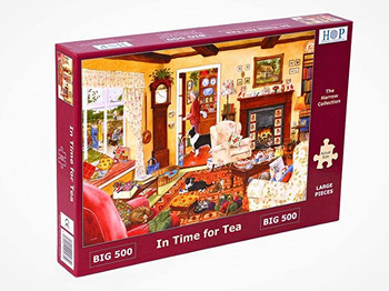 Hours of puzzles big 500 piece jigsaw in time for tea