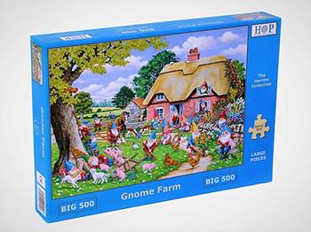 House of Puzzles big 500 piece jigsaw gnome farm