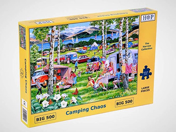 House of Puzzles Camping chaos  big 500 piece jigsaw