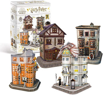Harry Potter 7585 Diagon Alley 4 in 1 3D Puzzle Set