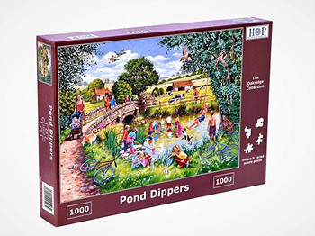 House of Puzzles 1000 piece jigsaw. pond dippers