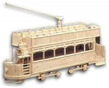 Matchbuilder kit electric tram car kit c,1908