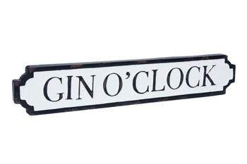 Gin o clock tin sign