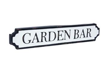 Garden bar tin sign