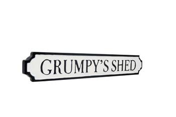 Grumpy shed tin sign