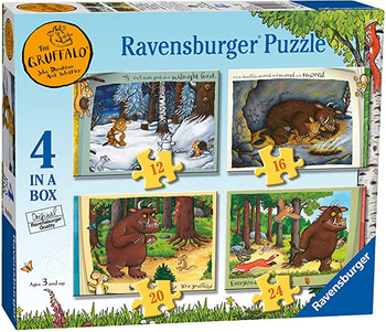 Ravensburger gruffalo jigsaw 4 in a box