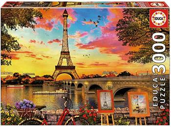 Educa sunset in Paris 3000 piece jigsaw