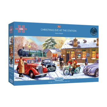 636 piece jigsaw Christmas Eve at the station