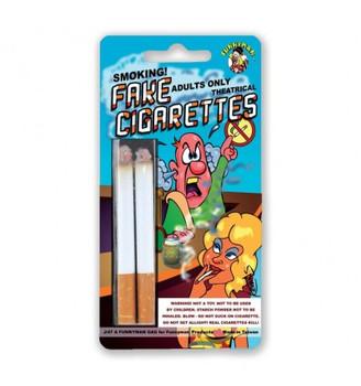 Fake cigarettes joke or acting aid