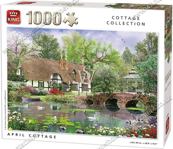 King, April Cottage 1000 piece jigsaw