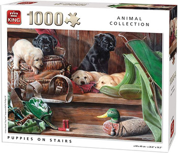 King puppies on the stairs 1000 piece jigsaw