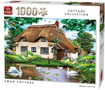 Swan cottage 1000 piece jigsaw king