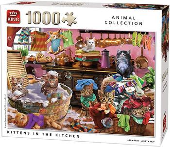 Kittens In The kitchen 1000 piece jigsaw king