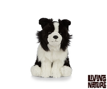 Living nature collie dog soft toy