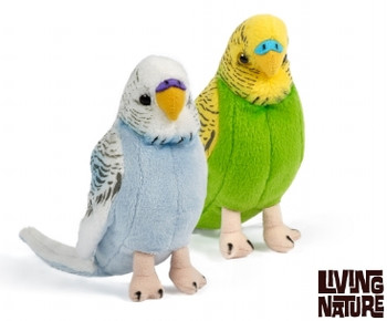 Living nature budgerigars soft toy
