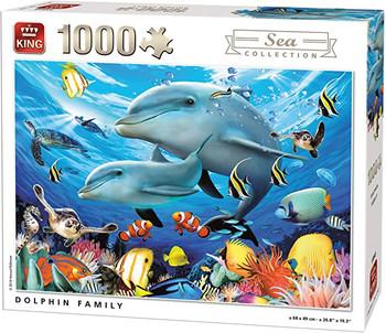 King dolphins family 1000 piece jigsaw