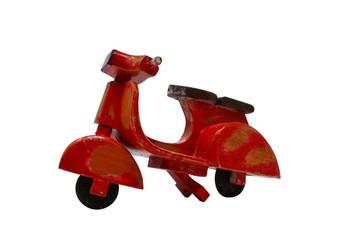 Wooden Vespa red