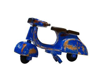 Vespa wooden bike blue