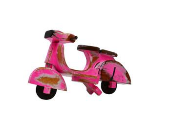 Vespa pink wooden bike