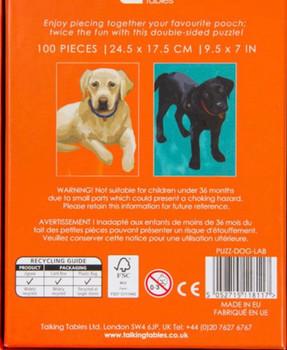 100 piece double sided jigsaw Labrador