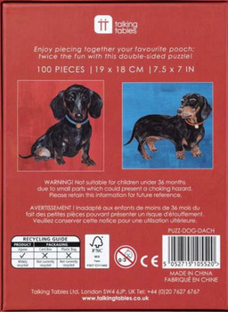Double sided 100 piece jigsaw Dash hound