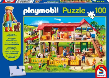 Playmobil 100 piece jigsaw with figure farm
