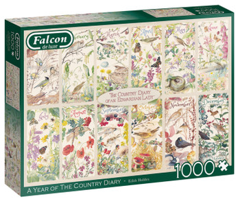 Falcon A year of the country diary 1000 piece jigsaw