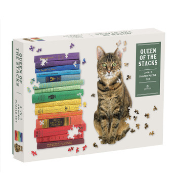 Queen of stacks set of 2 shaped puzzles 650+ pieces