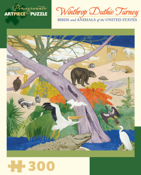 Pomegranate birds and animals of the United States 300 large piece jigsaw