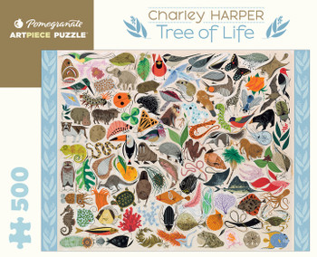 Pomegranate 500 large piece jigsaw Tree of life Charley Harper