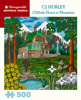 Pomegrante Cliffside House in Mountains by Cj Hurley 500 piece jigsaw
