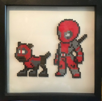 Homemade Hama bead, dead pool picture