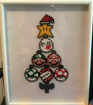 Homemade Hama bead Mario tree