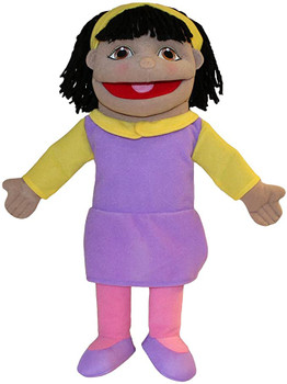 Small girl olive skin tone puppet