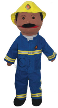 Fire person dressing up for a puppet
