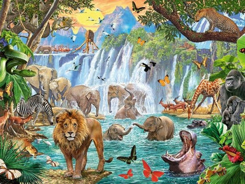 ravensburger 1500 piece jigsaw waterfall safari
