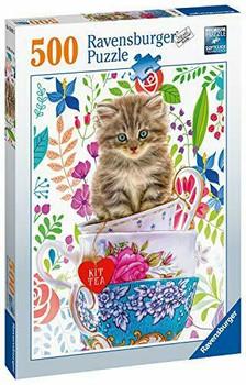 Ravensburger 500 piece jigsaw Kitten in a tea cup