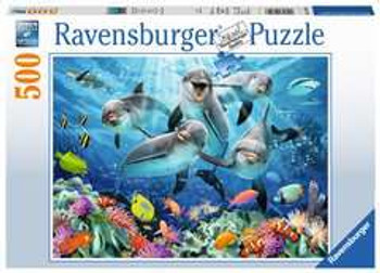 Ravensburger dolphins on the coral reef 500 piece jigsaw