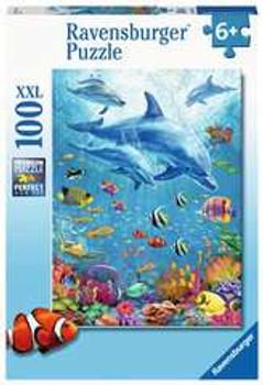 Ravensburger pod of dolphins 100xxl jigsaw